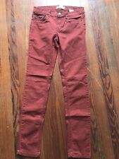 H&M logg Jean Pant *Z6* Women Size 8 Maroon Crimson Burgundy Casual H and M