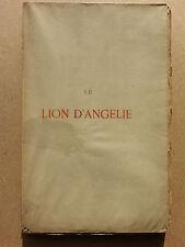 Le lion d'Angélie Histoire amoureuse et tragique Pierre Corneille Blessebois