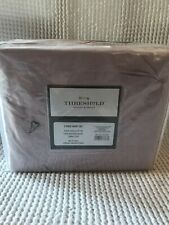 Threshold Full/Queen Pinch Pleat Duvet Cover & Sham Set Mauve