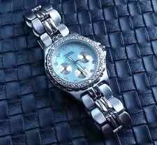 Fossil Blue Rocks watch BQ9111 stainless CZ MOP face excellent shape rare unique