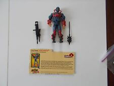 2003 G.I. JOE 3 3/4 INCH COBRA MORAY WITH GUN , SPEAR AND FILE CARD