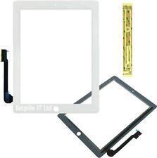 NUOVO Bianco Ricambio Anteriore Touch Screen Digitizer Vetro Plastica per Apple iPad3
