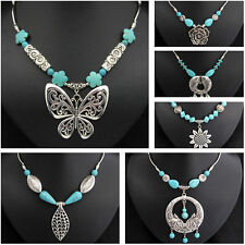 Butterfly Turquoise Fashion Necklaces & Pendants