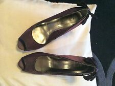 Purple Satin Stiletto Heels by New Look