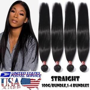 100% Soft Body Wave 400G 4 Bundles Brazilian Human Hair Virgin Weave Weft BLACK
