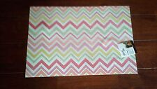 SPRING TIME FIESTA placemat ZIG ZAG flamingo tangerine INDOOR outdoor NEW