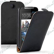 Accessoire Housse Coque Etui Pu Vrai Rabattable Cuir NOIR Pour HTC Desire 310