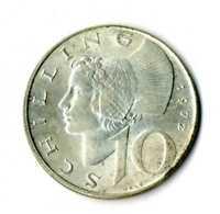 Moneda Austria 1972 10 Schillings plata.640  silver coin chelines