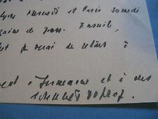 JOANNES DUPRAZ Autographe Signé 1941 DEPUTE INDRE NEGOCE LYON RAMADIER à BERAUD