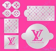 8pc Designer logo Stencil, Cookie Stencil, Pochoir, Decoupage stencil,Schablonen