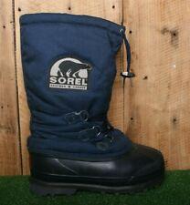 SOREL Blue Textile & Natural Rubber Heavy Duty Winter Snow Boots Women's Sz. 8