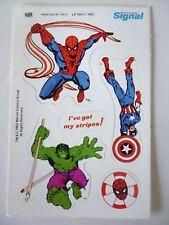 VINTAGE SPIDER-MAN, HULK & CAPTAIN AMERICA STICKER.B.SIGNAL TOOTHPASTE.1982.RARE