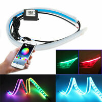 2Pcs 30CM Car RGB LED Light Strip DRL with Phone APP Remote Control
