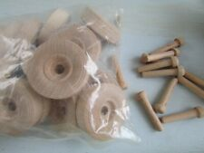 20 each wood craft wood Wheels And Pins for woodworking toy 40pcs