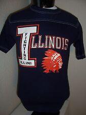 University of ILLINOIS Illini Small S Vintage T shirt Combine ship w/Ebay cart