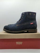 Levi's Men's Sheffield Suede Ankle Work Boots Navy Blue NEW *Choose Size*
