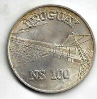 Uruguay 100 Pesos  1981  Plata @ Sin Circular @