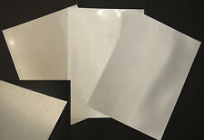 Madaboutink Brushed Silver Inkjet Metallic Adhesive Sticker Film 50 x A4 Sheets