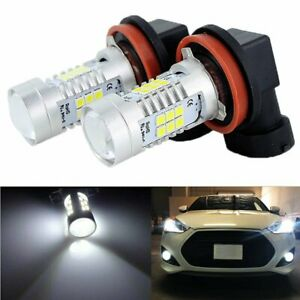 2X LED Fog Light Bulb H8 H9 H11 Fog Light Bulb 6000K White High Power 200W Lamps