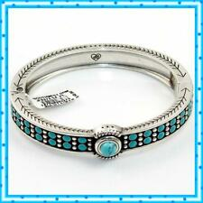 Brighton Southwest Dream Trail Turquoise Oval Hinged Bangle Bracelet NWTag