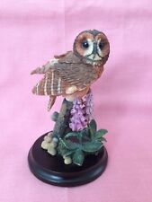 Country Artists Tawny Owl With Foxglove 2003 Collectible Figurine Ornament