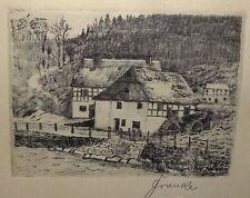 "Franke ""Wassermühle"" orig. Radierung, MG 8,5x12 cm,   (243/13029)"