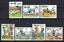 JO été Vietnam (65) série complète de 7 timbres oblitérés