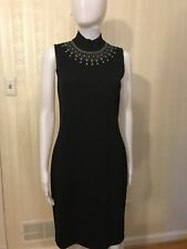 St. John Black Jewlery Collar Dress Size 4