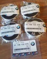 Bmw Alloy wheel 68mm centre caps & m sport sticker emblems