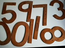 Wooden Number Lot Handmade Cut Outs Vintage