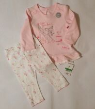 Baby Girls 6-9 Months Disney George Bambi Top And Bottoms Outfit 2 Piece Set