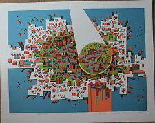 Sérigraphie serigraph de Risaburo KIMURA signée numérotée - City 381