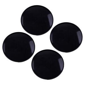 4x Black ABS Plastic Car Wheel Center Hub Caps Covers Set no logo 68x61.5mm