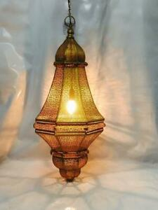 "22"" Moroccan Turkish Lamp Pendant Lights Golden Ceiling Light Hanging Lamps"