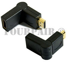 90/270 Degree Right Angle HDMI Male to Female M/F Swivel Adapter Extender 1080P
