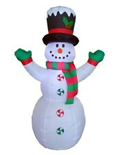 Christmas Air Blown LED Inflatable Yard Outdoor Decoration Snowman Hat and Scarf