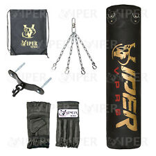 Boxing Punch Bag  Chain Kick Mma Gym Fitness Filled 4ft VIPER Club Training