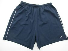 Nike Sh079 Size XL Women's Blue Athletic Draw String Running Shorts