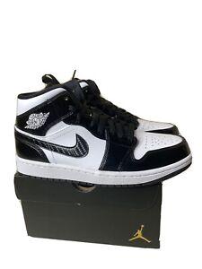 Nike Air Jordan 1 Mid SE All Star Weekend Carbon Fiber Black DD1649-001 Size 10