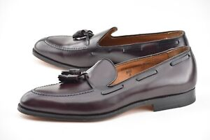 NEW W BOX | ALDEN 11.5A NARROW BURGUNDY TASSEL LOAFER DRESS SHOES 663