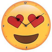 Orologio da parete occhi cuore 30cm alta Love Emoji Orologio Muro Appeso