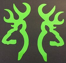 1 NEW LIME GREEN BROWNING DEER BUCK DECAL STICKER LOGO EMBLEM BOW RIFLE SHOOTING