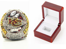 Wooden box 2019 - 2020 Kansas City Chiefs Championship Ring Sz 8 - 14