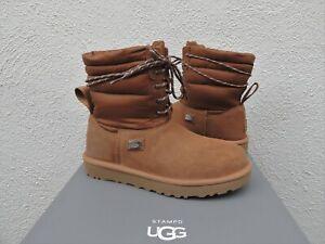 UGG x STAMPD CHESTNUT LACE-UP WINTER BOOTS, ALL GENDER MEN US 12/ EUR 45 ~ NEW