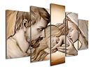 Quadro su tela Capezzale Sacra Famiglia Holy Kiss ® su 5 pannelli 150 x 100 cm