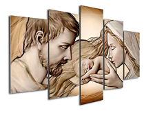 Quadro Sacra Famiglia su tela Capezzale Holy Kiss ® su 5 pannelli 150 x 100 cm