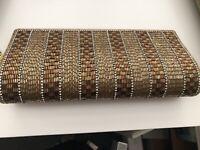 Gold & Bronze Clutch Bag/wedding Party