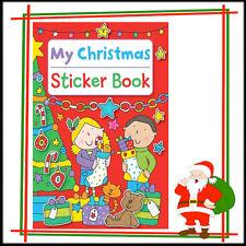 Navidad Niños Libro de pegatinas de pegatinas de pre escolar actividad para colorear divertido