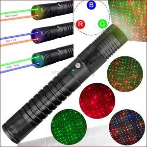 Q5 450nm Blue Laser Pointer 650nm Red Laser Ray 532nm Green Laser Pen 4 Modes AU