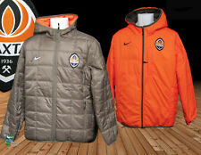 New NIKE SHAKHTAR  Donetsk Football Reversible BENCH COAT Jacket Brown Orange M